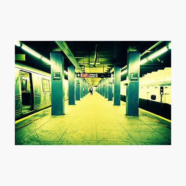 Subway Platform Photographic Print