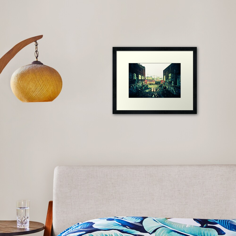 Shoot the Live Human Framed Art Print