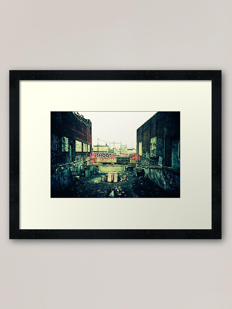 Alternate view of Shoot the Live Human Framed Art Print