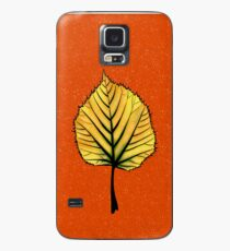 Yellow Linden Leaf On Orange | Decorative Botanical Art Case/Skin for Samsung Galaxy