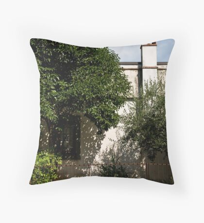 a garden Throw Pillow