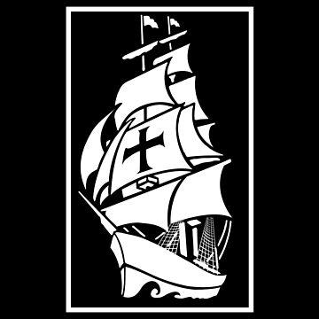 Modern sailing ship design by shirtrevolution