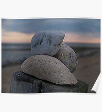 Beach Stones At Matunuck Poster