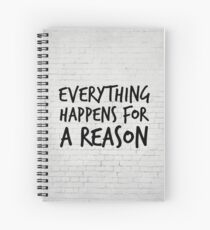 Everything happens for a reason - Marilyn Monroe Quote Spiral Notebook