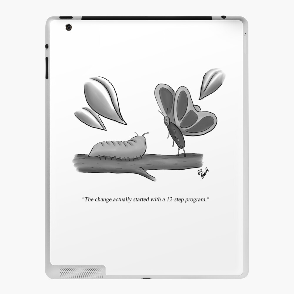 Funny Caterpillar To Butterfly Change Cartoon Humor Ipad Case Skin By Billtoons Redbubble