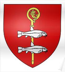 French France Coat of Arms 15446 Blason de la ville de Loché sur Indrois Poster