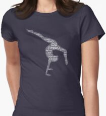 Gymnastics Shirt Word Art Acrobat Women's Fitted T-Shirt