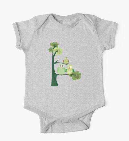 Green Owls Kids Clothes