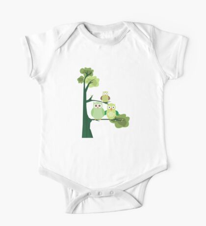 Green Owls Kids Clothes