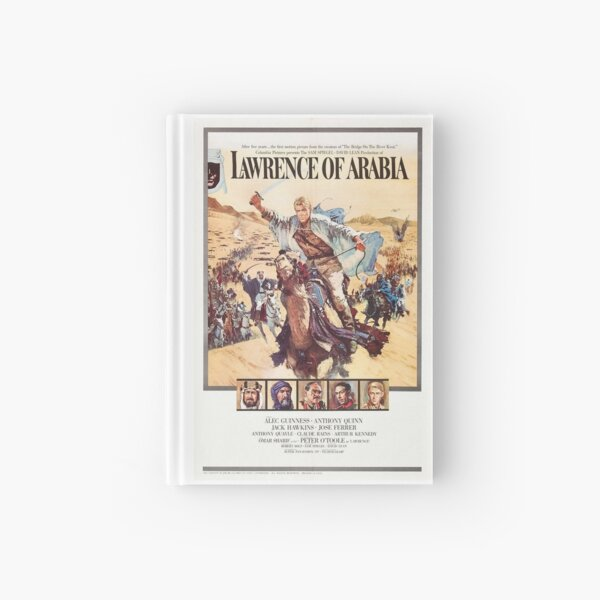 Vintage Movie Poster - Lawrence of Arabia Hardcover Journal