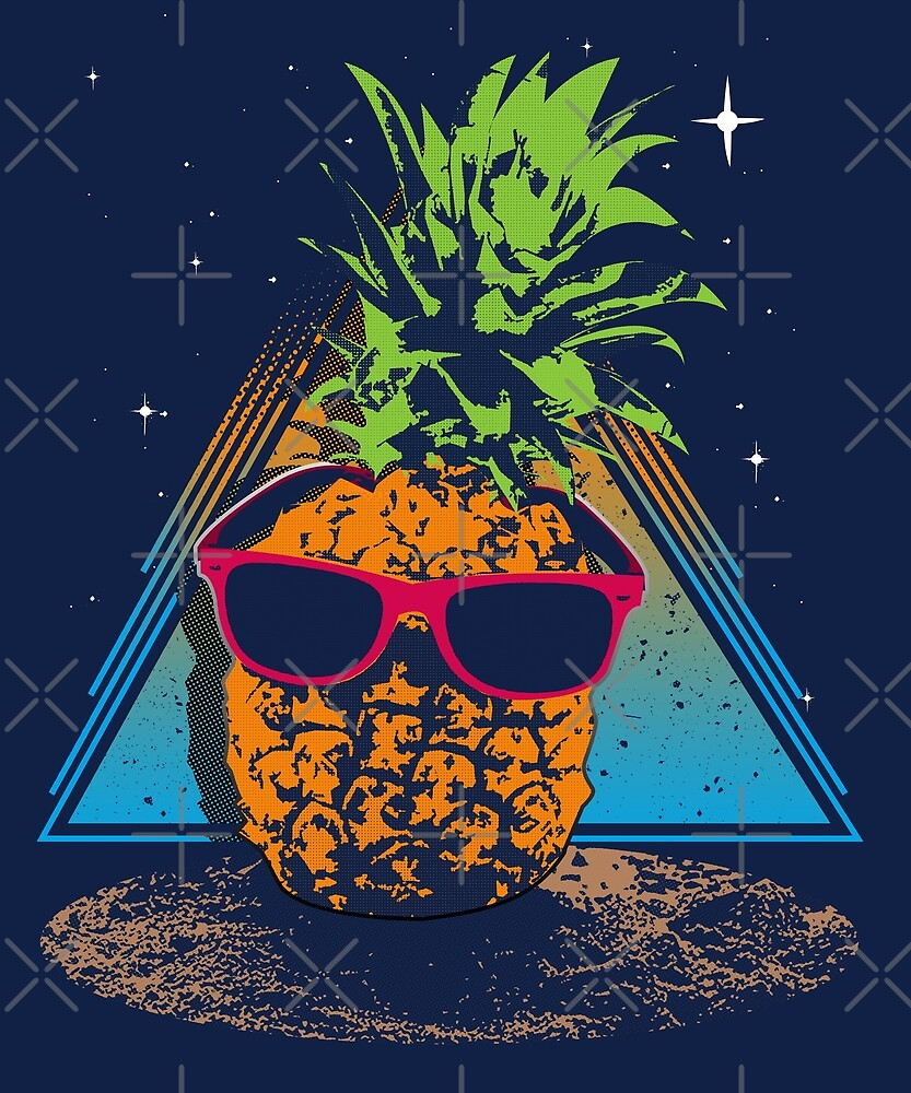 Retro Pineapple Beach by wearbaer