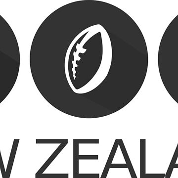 New Zealand Icons Black and White by studiopico