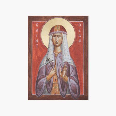 St Olga Art Board Print