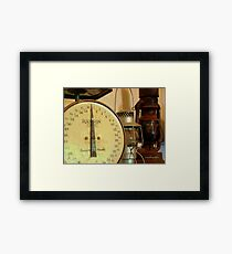 The Weight Of Age Framed Print