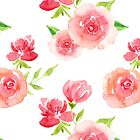 Pretty Pink Rose Pattern by ApricotBlossom