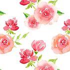 Hübsches rosa Rosenmuster von ApricotBlossom