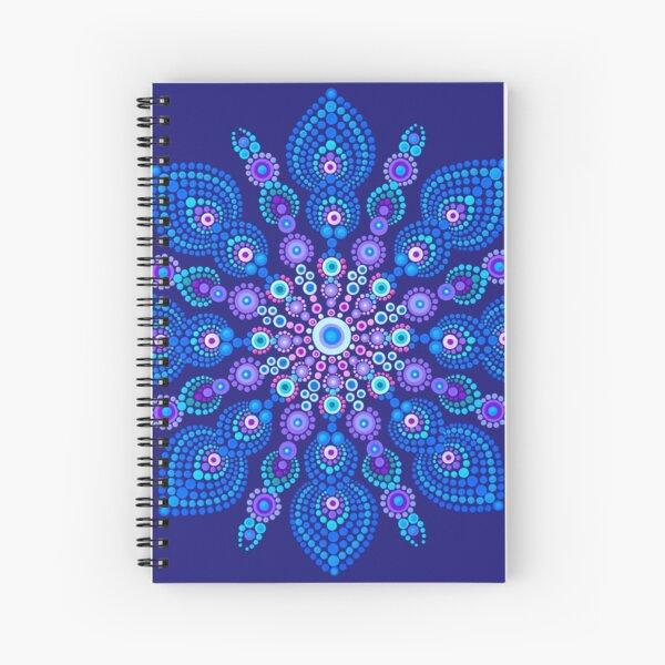 Light Blue Snow Flake Mandala - Art&Deco By Natasha Spiral Notebook