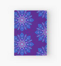 Light Blue Snow Flake Mandala - Art&Deco By Natasha Hardcover Journal
