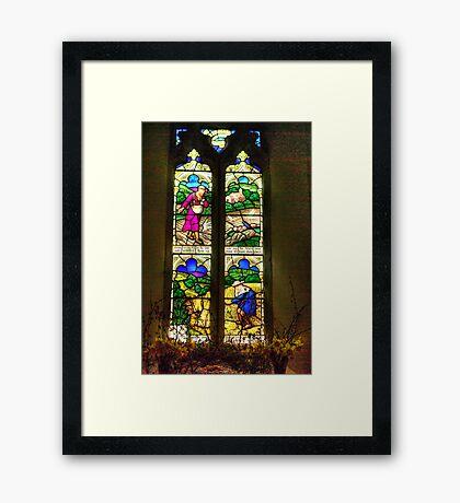 Window All Saints Church- Hawnby #4 Framed Print