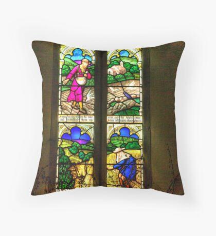 Window All Saints Church- Hawnby #4 Throw Pillow