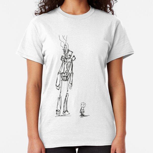 Girl and Robot Classic T-Shirt