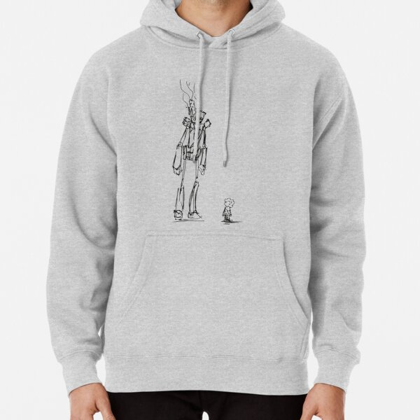 Girl and Robot Pullover Hoodie