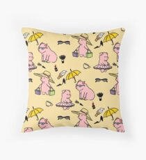 Pig Pattern Throw Pillow