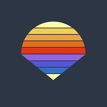 Minimalistic striped sunset - Summer edition by RobbeRNL