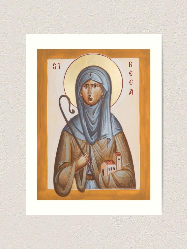Alternate view of St Bega Art Print