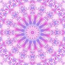 Pale Pink, Magenta, and Purple Mandala by Kelly Dietrich
