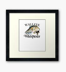 Walleye Whisperer Framed Print