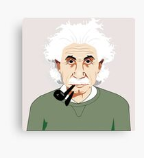 Genius Einstein Canvas Print