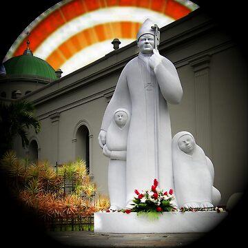 Benevolent Pope John Paul II by alabca