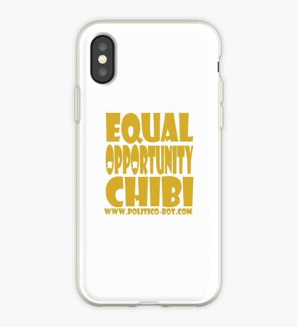 POLITICO'BOT: Equal Opportunity Chibi iPhone Case