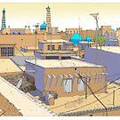 Khiva Skyline Uzbekistan by David  Kennett