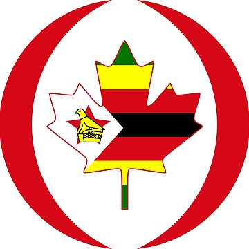 Zimbabwean Canadian Multinational Patriot Flag Series by carbonfibreme