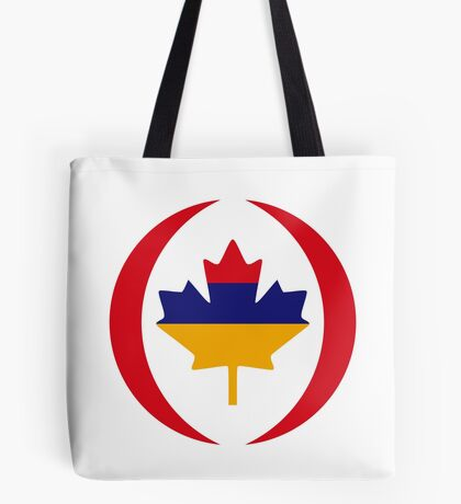 Armenian Canadian Multinational Patriot Flag Series Tote Bag