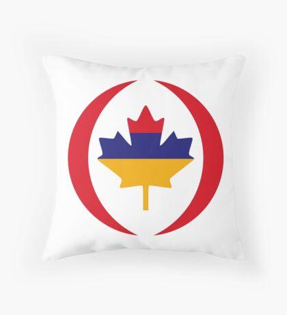 Armenian Canadian Multinational Patriot Flag Series Throw Pillow