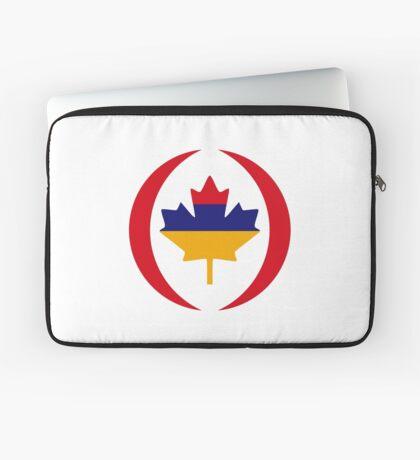 Armenian Canadian Multinational Patriot Flag Series Laptop Sleeve