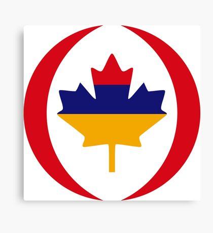Armenian Canadian Multinational Patriot Flag Series Canvas Print
