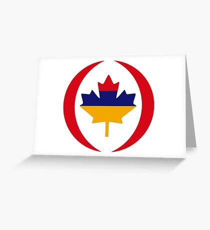 Armenian Canadian Multinational Patriot Flag Series Greeting Card