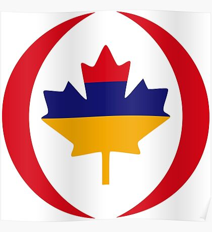Armenian Canadian Multinational Patriot Flag Series Poster