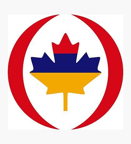 Armenian Canadian Multinational Patriot Flag Series Photographic Print