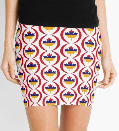 Armenian Canadian Multinational Patriot Flag Series Mini Skirt