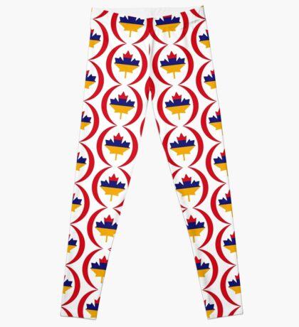 Armenian Canadian Multinational Patriot Flag Series Leggings