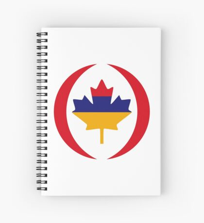 Armenian Canadian Multinational Patriot Flag Series Spiral Notebook