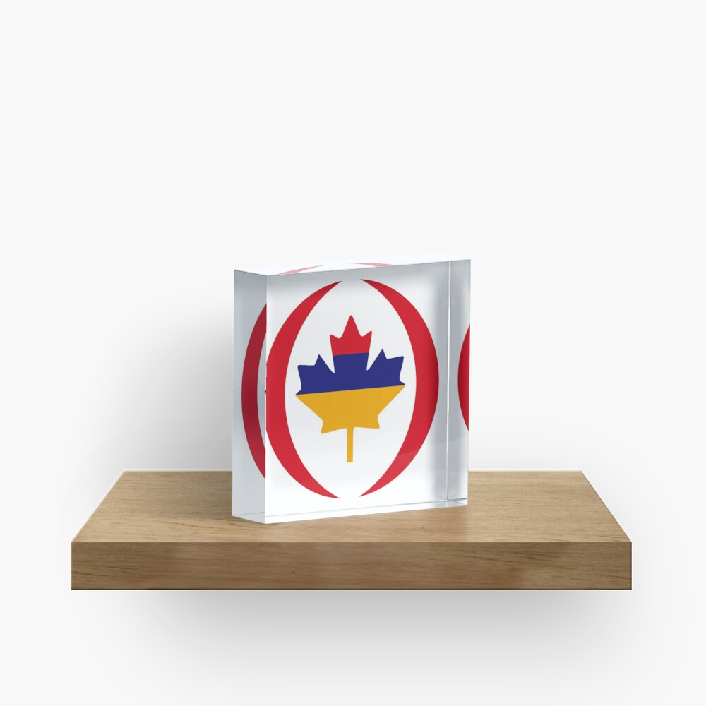 Armenian Canadian Multinational Patriot Flag Series Acrylic Block