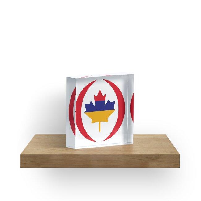 Armenian Canadian Multinational Patriot Flag Series by Carbon-Fibre Media