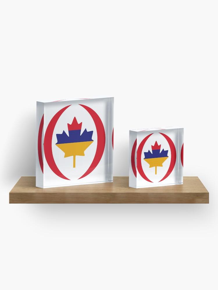 Alternate view of Armenian Canadian Multinational Patriot Flag Series Acrylic Block