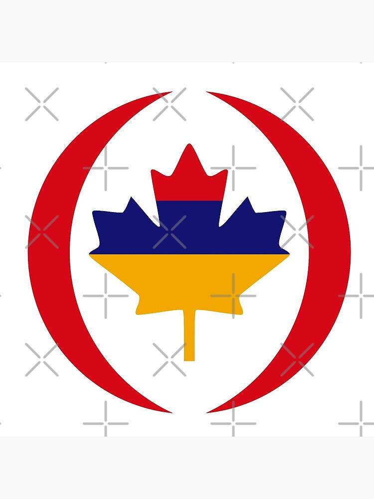 Armenian Canadian Multinational Patriot Flag Series by carbonfibreme